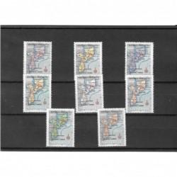 1954 - Mapa de Moçambique